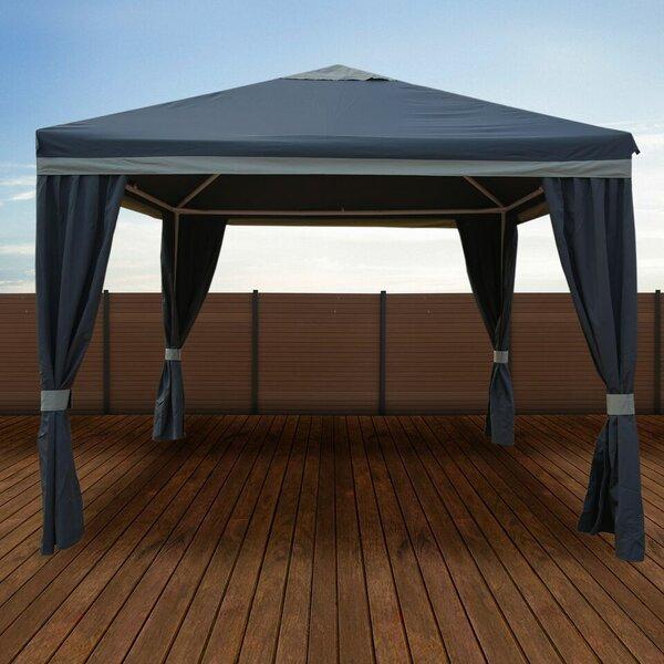 10 Ft. W x 10 Ft. D Steel Patio Gazebo by Impact Shelter