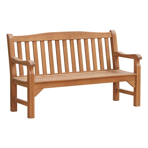Wooden Garden Bench by August Grove