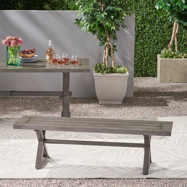 Oyler Modern Outdoor Aluminum Picnic Bench by Gracie Oaks