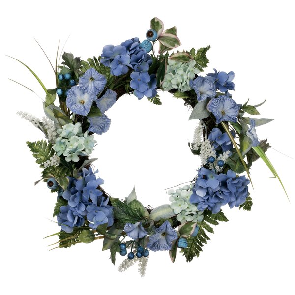 Hydrangea 22 Petunia Wreath by One Allium Way