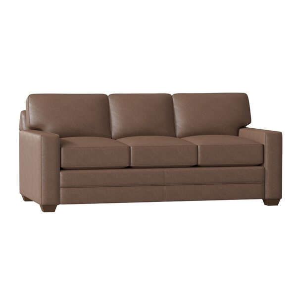 Zoie Leather Sofa By Wayfair Custom Upholstery™