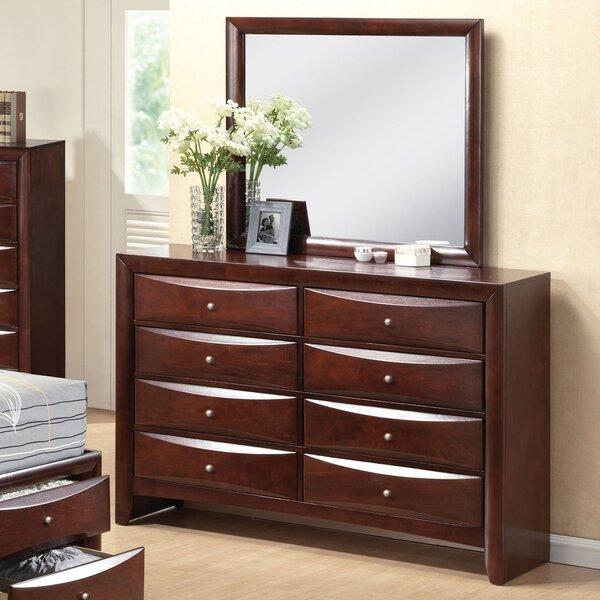 Braymer 8 Drawer Double Dresser with Mirror by Ebern Designs