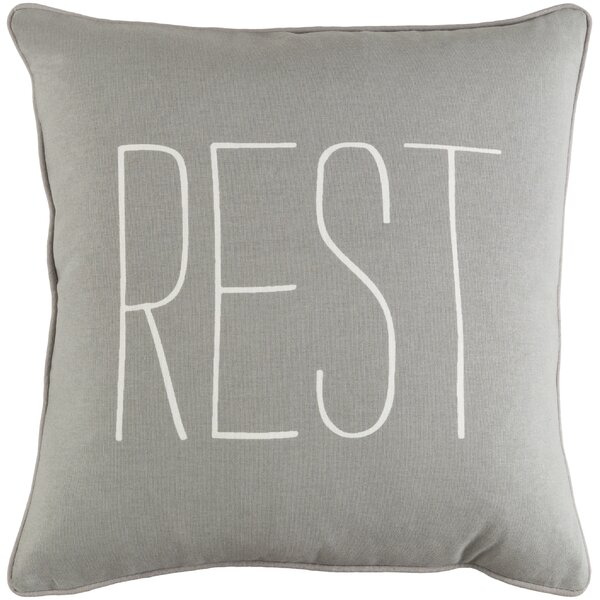 Carnell Rest Cotton Throw Pillow by Mercury Row