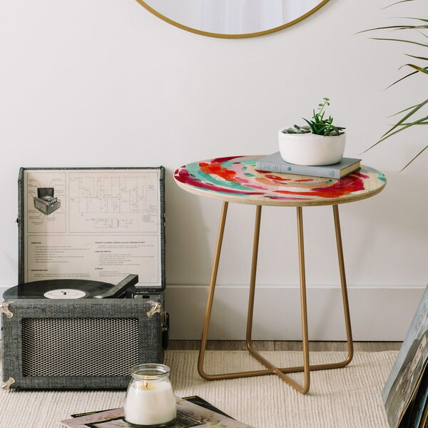 Laura Fedorowicz Tropics Please End Table by East Urban Home