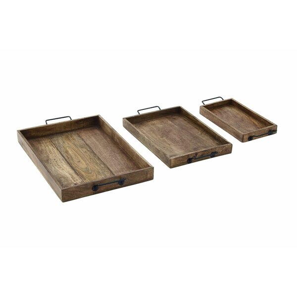 3 Piece Wood Tray Set by Cole & Grey