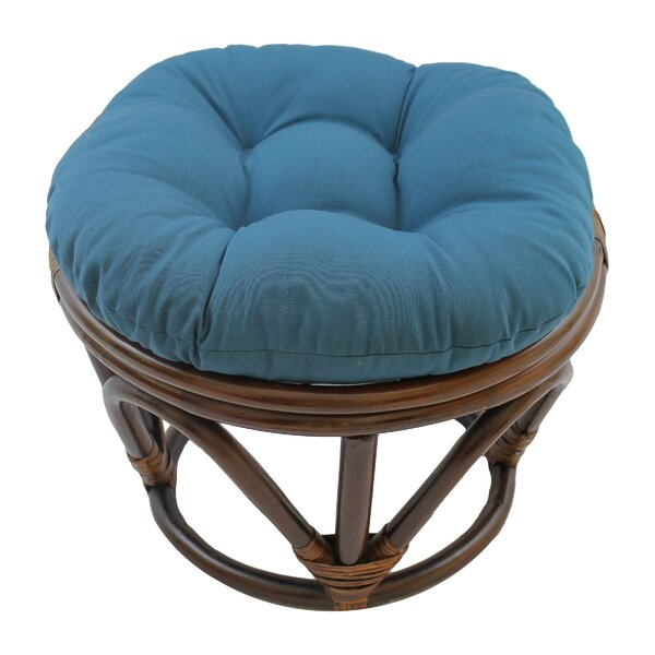 Papasan Round Ottoman Cushion by World Menagerie