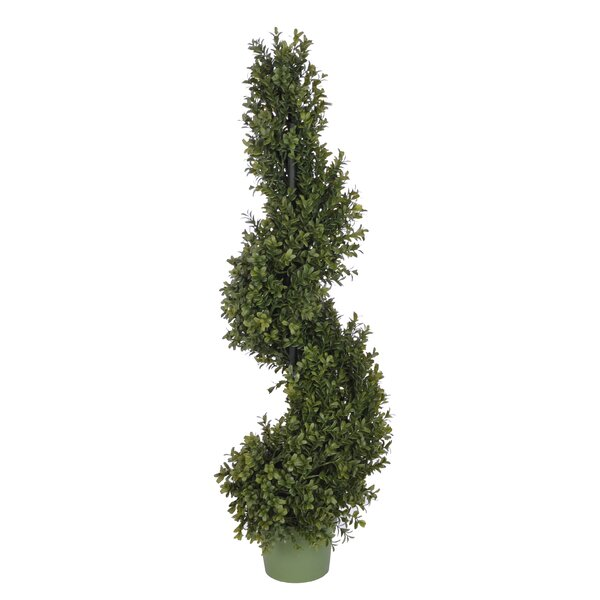 Faux Boxwood Spiral Topiary by Darby Home Co