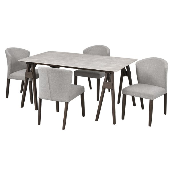 Best #1 Macclesfield 5 Piece Solid Wood Dining Set By Gracie Oaks Coupon