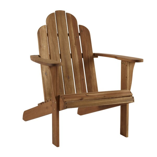 Knowlson Solid Wood Adirondack Chair By Beachcrest Home