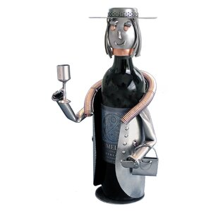 Sophisticated Lady 1 Bottle Tabletop Wine Rack by H & K SCULPTURES