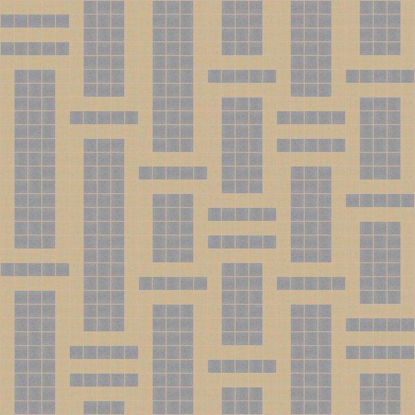 Urban Essentials Modern Bamboo 3/4 x 3/4 Glass Glossy Mosaic in Urban Khaki by Mosaic Loft