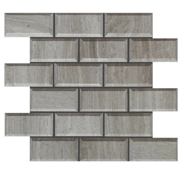 Pillow Edge Polished 2 x 4 Natural Stone Mosaic Tile in Gray by QDI Surfaces