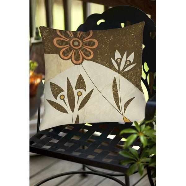 Graphic Garden Savannah Indoor/Outdoor Throw Pillow by Manual Woodworkers & Weavers