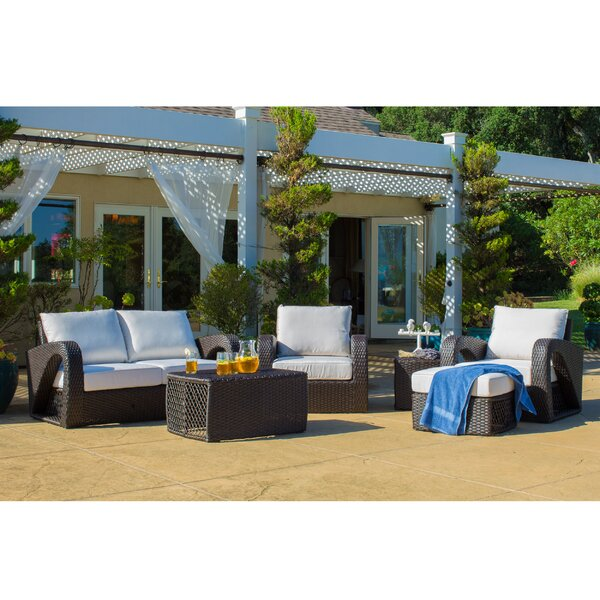 Duran Outdoor Wicker 6 Piece Sunbrella Sofa Seating Group with Cushions by Orren Ellis