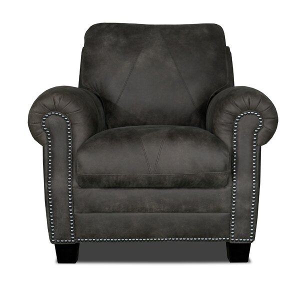 Moree Leather Armchair by Canora Grey