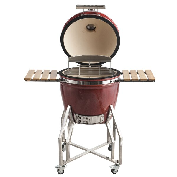 22 Premier Backyard Cooker Kamado Charcoal Grill by All-Pro