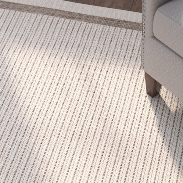 Acton Tan/Ivory Striped Indoor/Outdoor Area Rug by Three Posts
