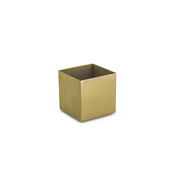 Square 7 oz. Matte Brass Holder (Set of 2) by Front Of The House