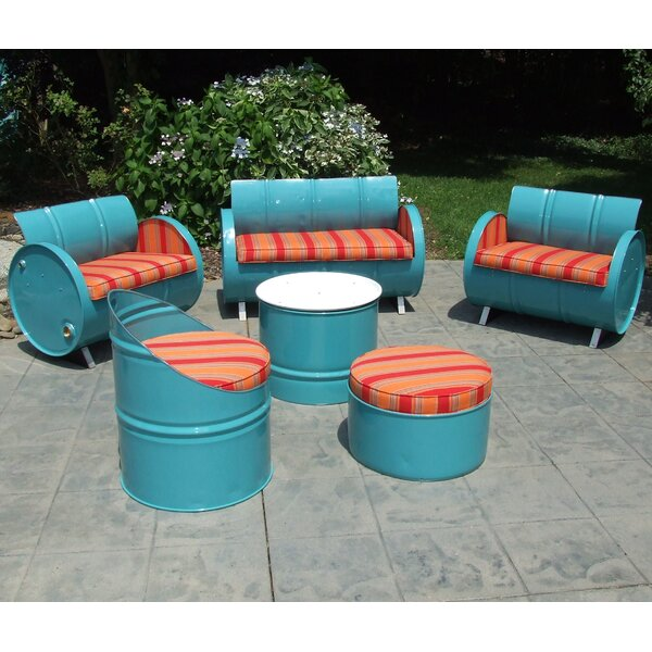 Sacha 6 Piece Sunbrella Sofa Set with Cushions by Millwood Pines