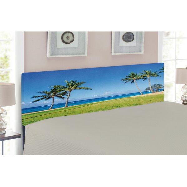 Hawaiian Upholstered Panel Headboard By East Urban Home