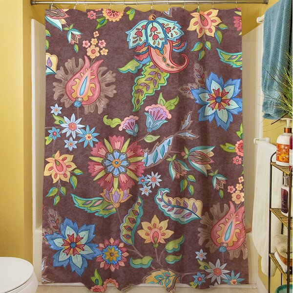 Shangri La Floral Shower Curtain by Manual Woodworkers & Weavers