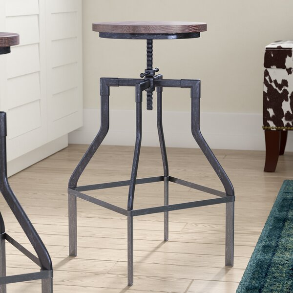 Radersburg Adjustable Height Swivel Bar Stool by Trent Austin Design