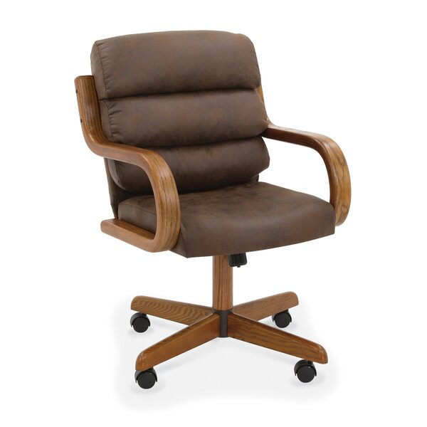 Ange Upholstered Metal Dining Chair in Mocha Brown by Ebern Designs Ebern Designs