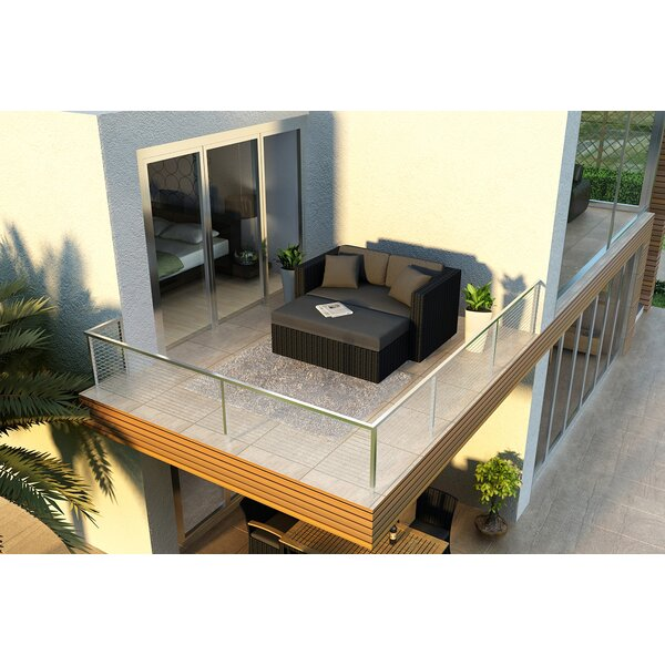 Azariah Patio Daybed with Sunbrella Cushions by Orren Ellis