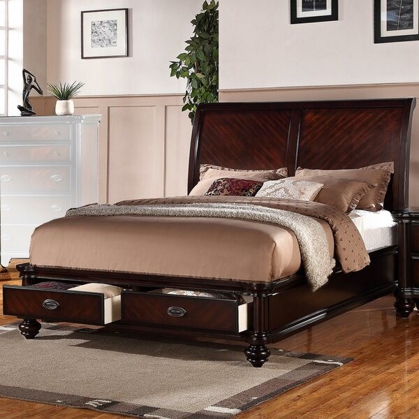 Landyn Immaculate Wooden Sleigh Bed by Darby Home Co
