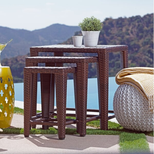 Geebern 3 Piece Side Table Set by Bayou Breeze