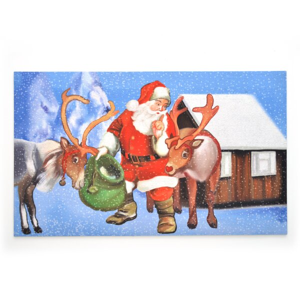 Secret Santa Crumb Rubber Doormat by The Holiday Aisle