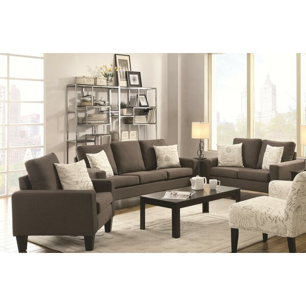 Creasey 3 Piece Living Room Set by Red Barrel Studio
