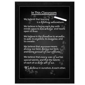 'In the Classroom' Framed Textual Art by Trendy Decor 4U