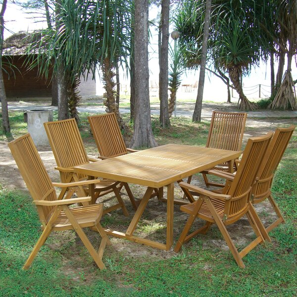 Lilly Folding Solid Wood Dining Table by Bay Isle Home