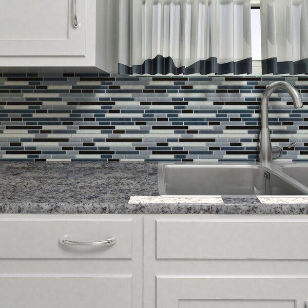 Ambit Random Sized Glass Mosaic Tile in Marina by EliteTile