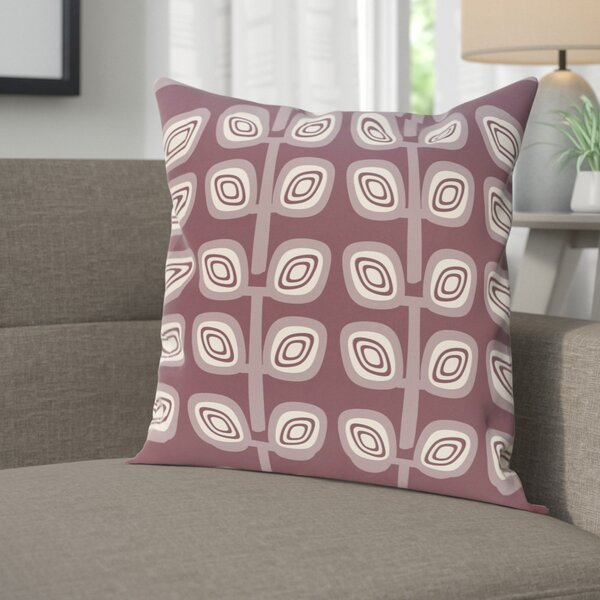 Youman Leaf Tree Geometric Print OutdoorThrow Pillow by Ebern Designs
