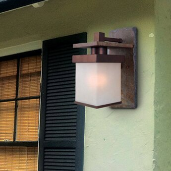 Andrew 1-Light Outdoor Sconce by Millwood Pines