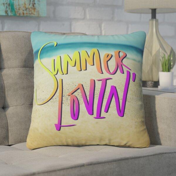 Barto Summer Lovin Beach Indoor/Outdoor Throw Pillow by Brayden Studio