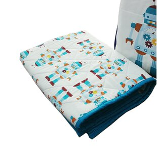 Robot 0.25 Crib and Toddler Bed Mattress Protector By Chez Bebe