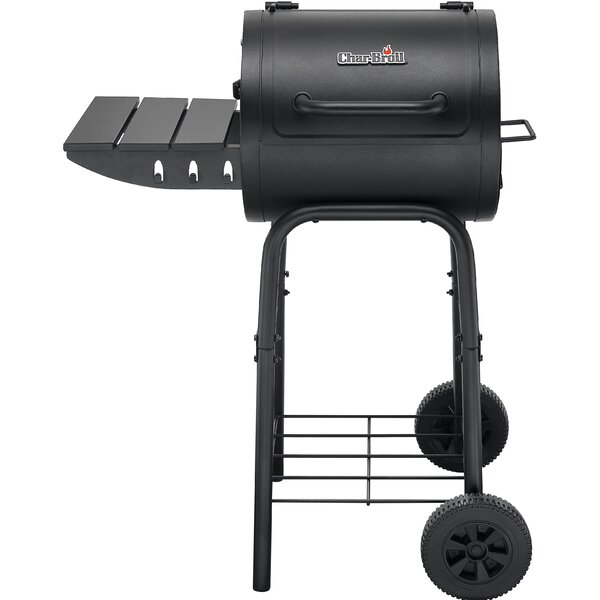 American Gourmet 225 Series Charcoal Grill with Side Shelves by Char-Broil