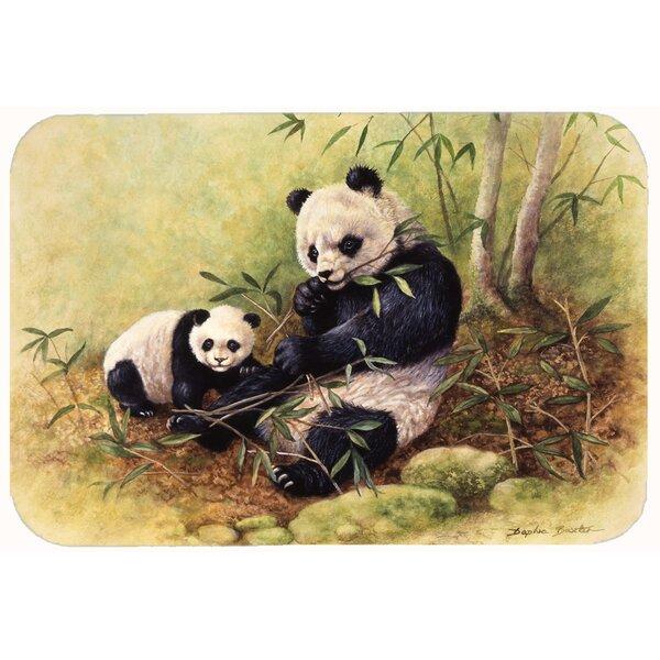 Panda Bears by Daphne Baxter Kitchen/Bath Mat by Caroline's Treasures