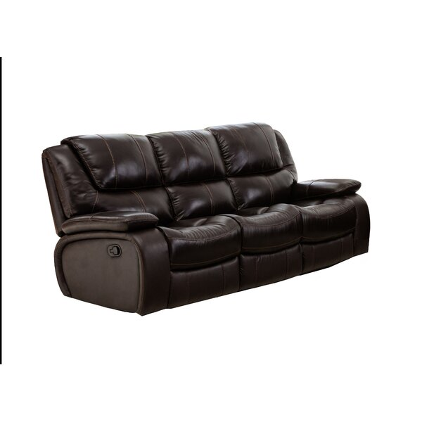 Low Priced Hille Leather Reclining Sofa by Red Barrel Studio by Red Barrel Studio