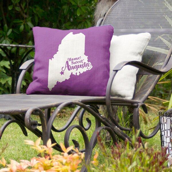 Augusta Maine Indoor/Outdoor Throw Pillow