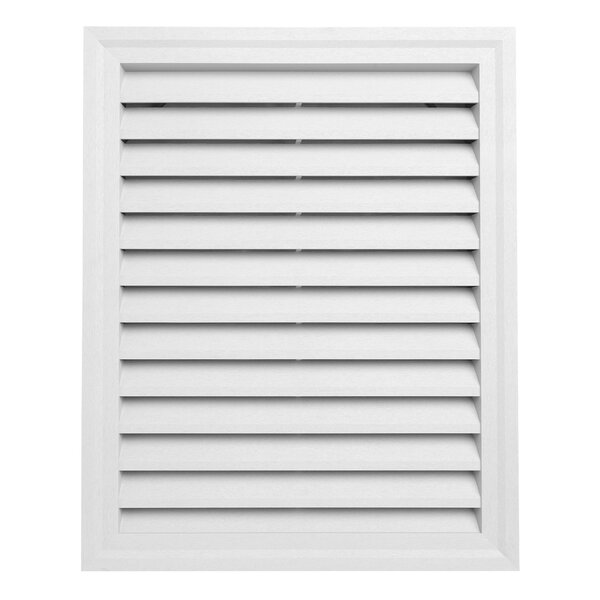 30 x 24 Plastic Rectangular Louver Gable Vent by Ply Gem