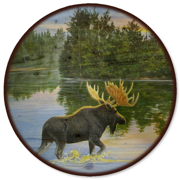 Lake Moose Lazy Susan by WGI-GALLERY