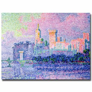 'Chateau de Papes Avignon, 1900' by Paul Signac Painting Print on Canvas by Trademark Fine Art