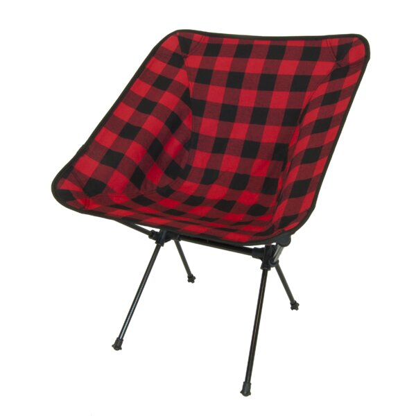 Winston Buffalo Plaid Folding Camping Chair by Loo
