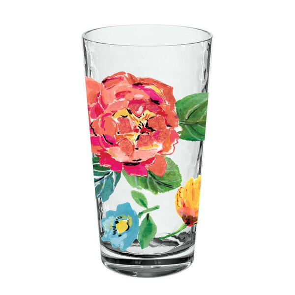 Leblanc Garden Floral Jumbo 21.5 oz. Acrylic Every Day Glass (Set of 6) by Ophelia & Co.