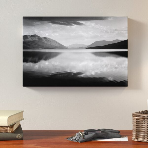 Evening, McDonald Lake, Glacier National Park by Ansel Adams Photographic Print on Wrapped Canvas by Loon Peak