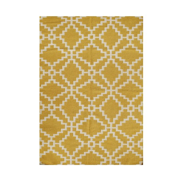 Rome Hand-Tufted Beige/Yellow Area Rug by The Conestoga Trading Co.